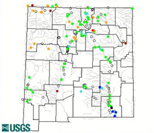 Current New Mexico stream flow data - USGS